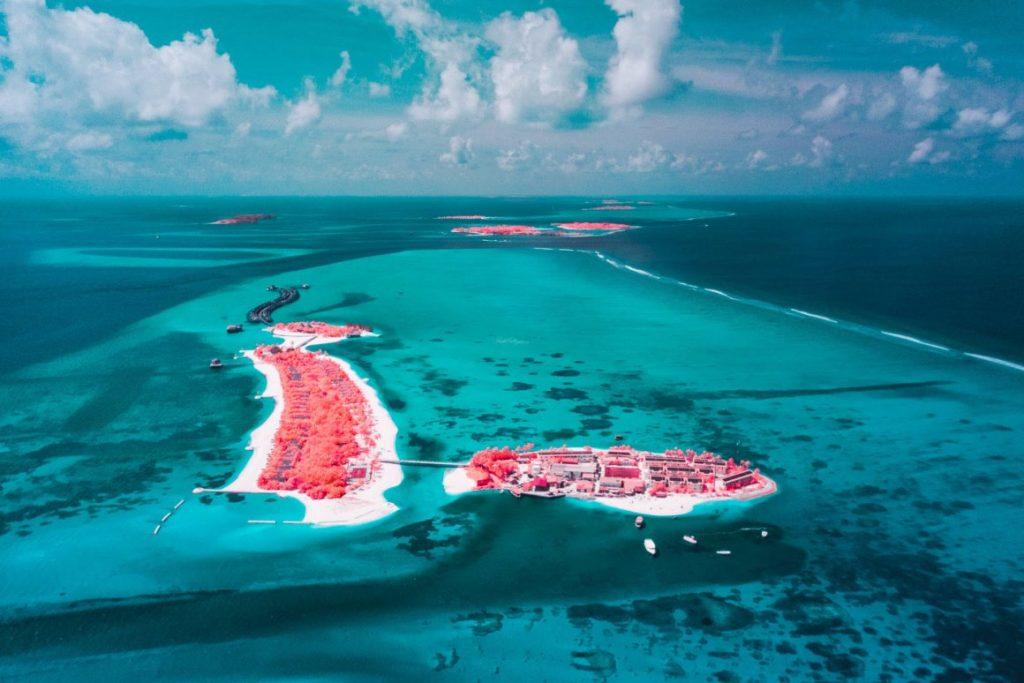 Maldivas en versión infrarroja