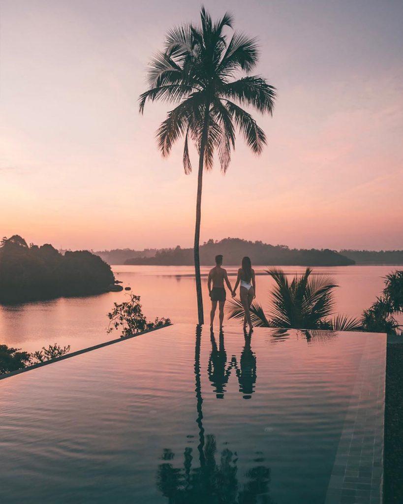 Tri Lanka y piscinas de hotel en Sri Lanka