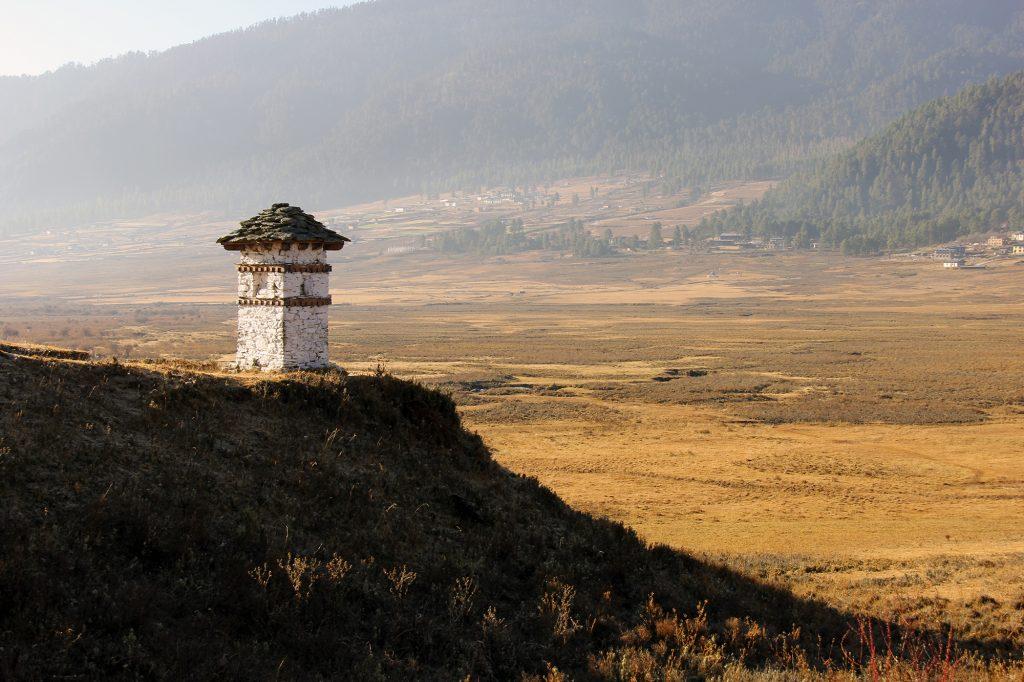 Valle de Phobjikha en Bután