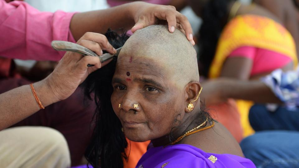 Temple of the hair in India