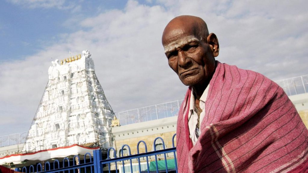 Temple of hair in Tirupati