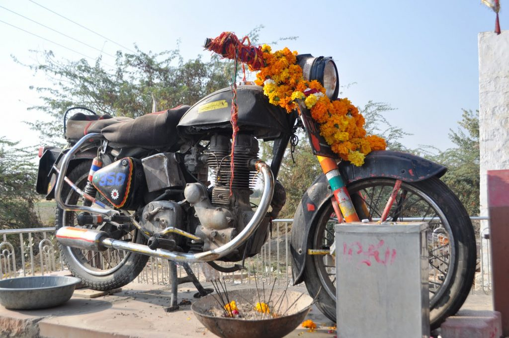 templo de moto en India