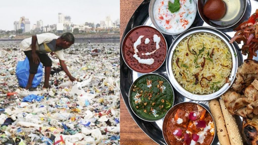 Food in exchange for waste in Mumbai