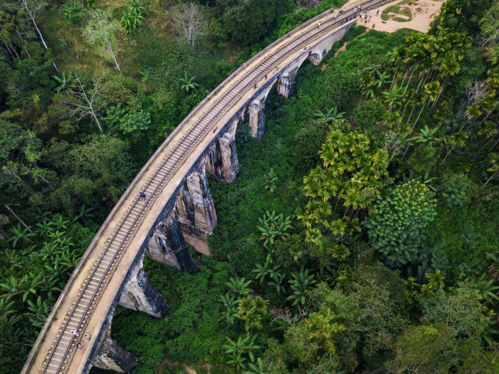 Dron en Sri Lanka Puente de los 9 Arcos