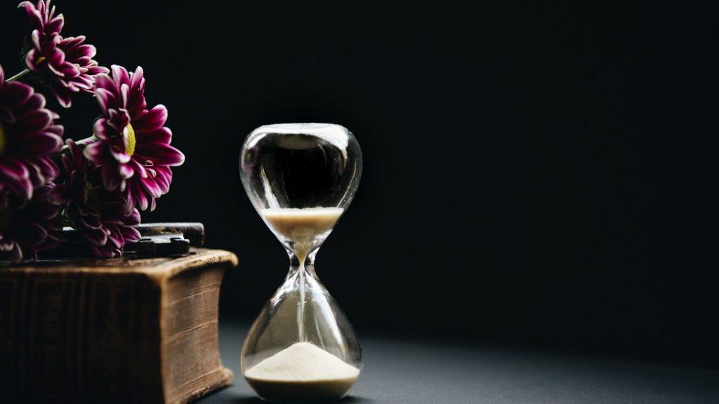 Paciencia reloj de arena