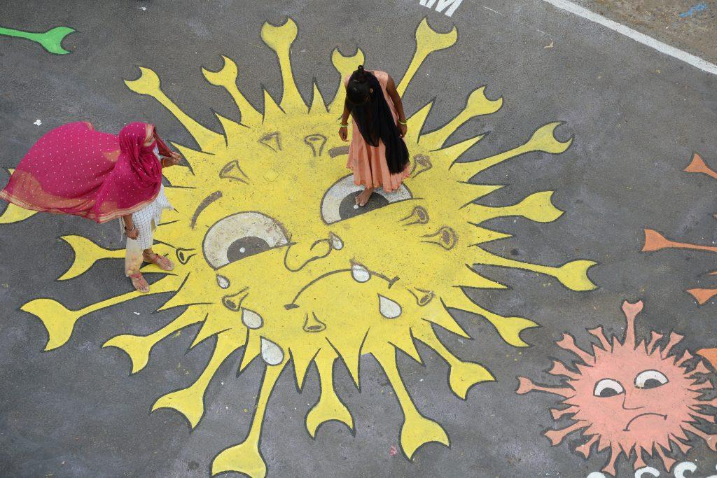 Street art covid-19