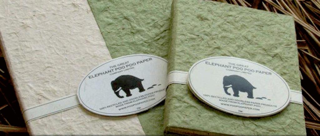 Papel de boñiga de elefante en Sri Lanka