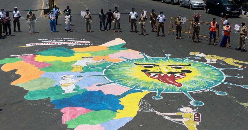 arte urbano COVID-19 India