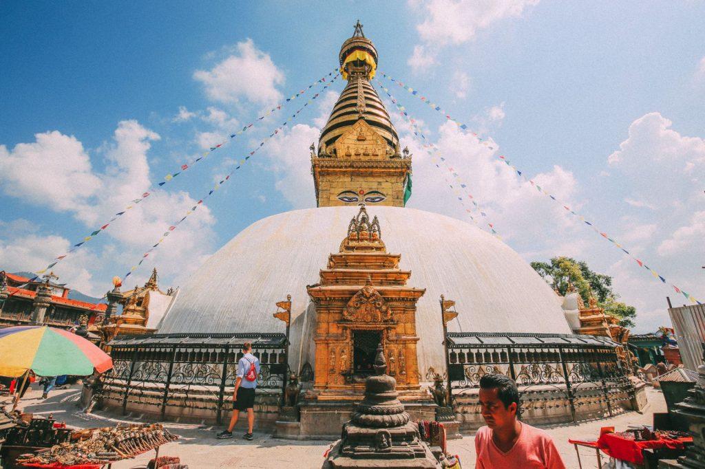 Estupa de Swayambhunath en Katmandu