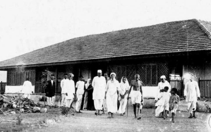 Gandhi en Savarmati Ashram