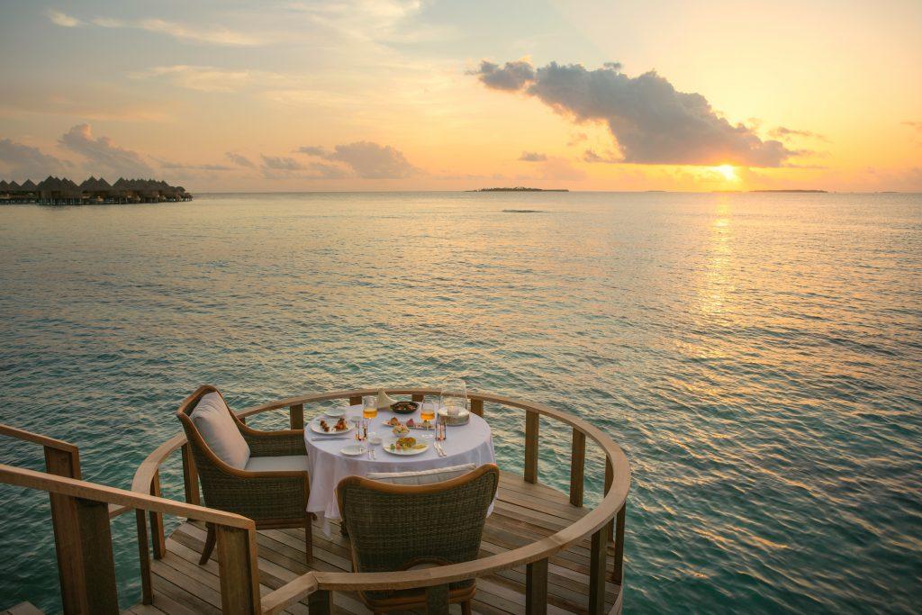 Cena privada en Maldivas