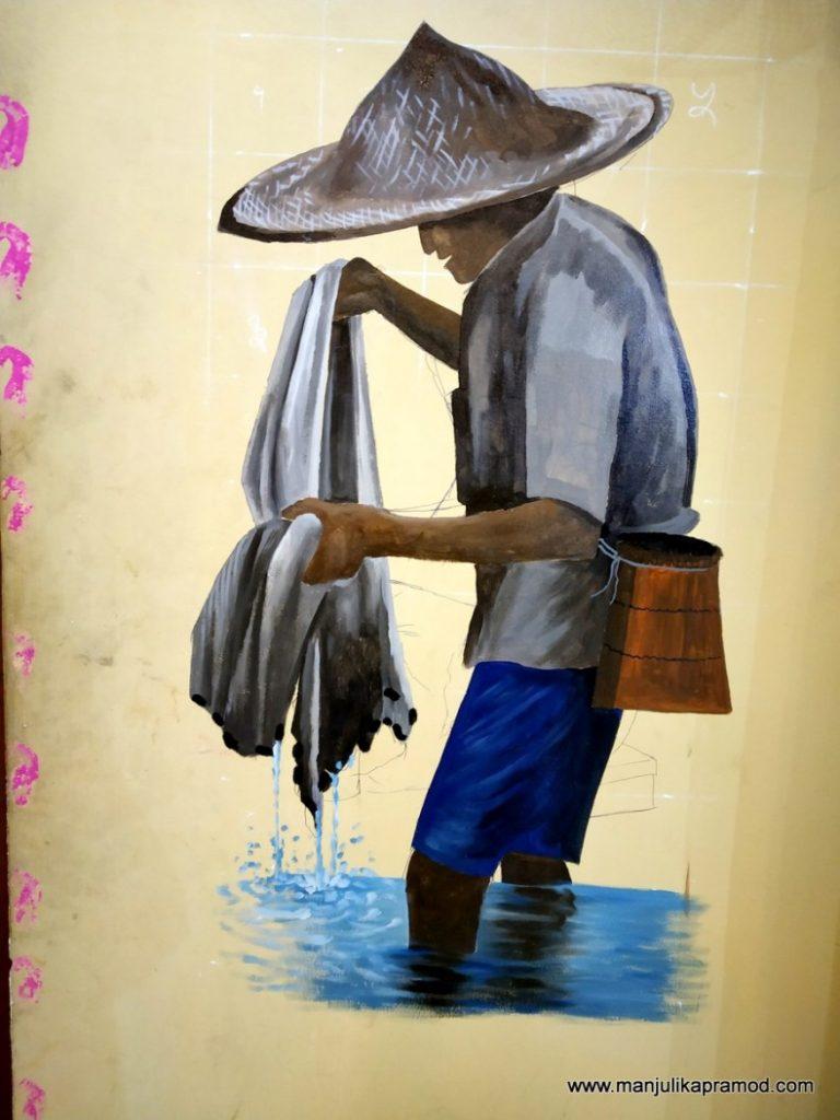 Arte urbano en Chitwan