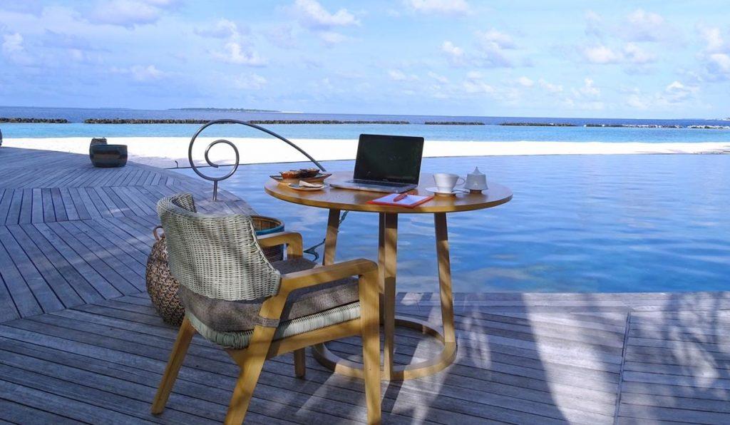 Trabajar en remoto en Maldivas