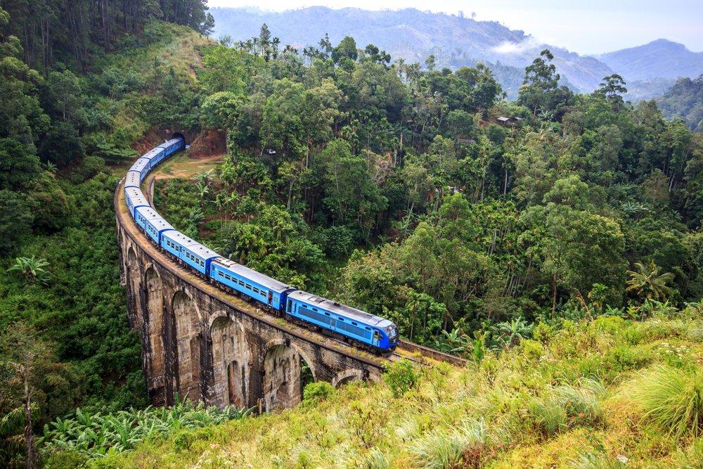 Ruta en tren por Sri Lanka