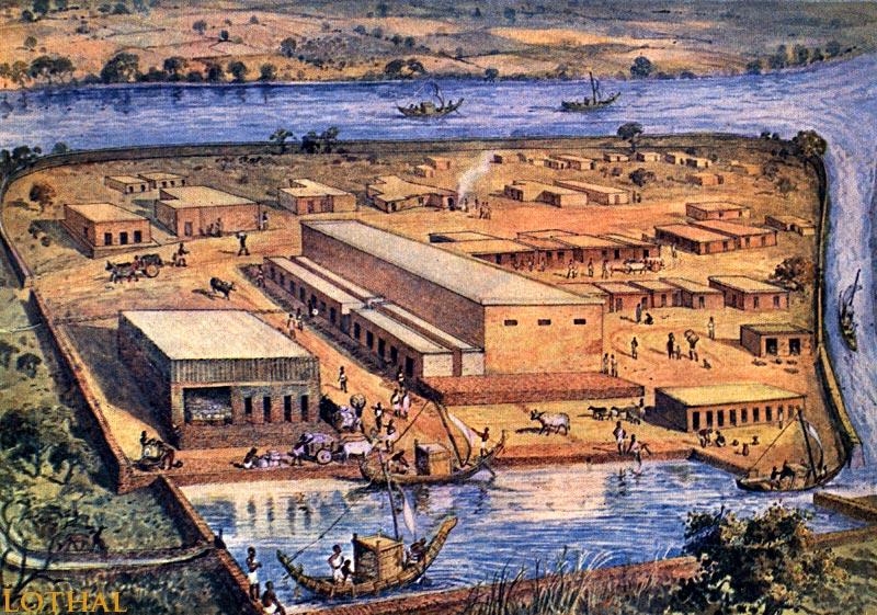 Restos arqueológicos en Gujarat