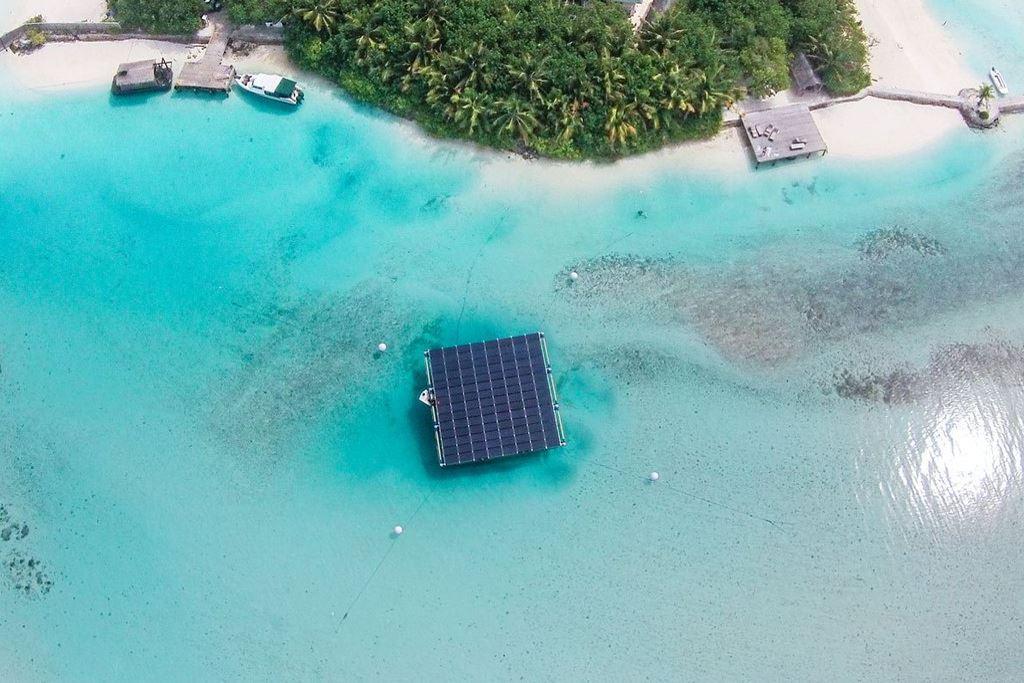 Placas solares en Maldivas